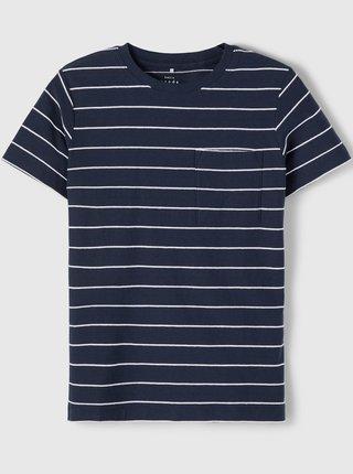Tmavě modré klučičí pruhované tričko name it Ves