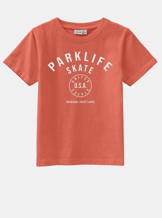 Oranžové klučičí tričko s potiskem name it Vux