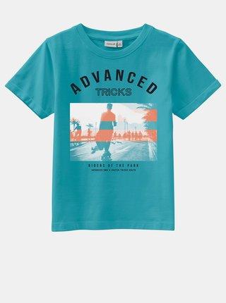 Modré chlapčenské tričko s potlačou name it Vux