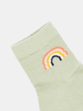 Zelené dievčenské ponožky name it