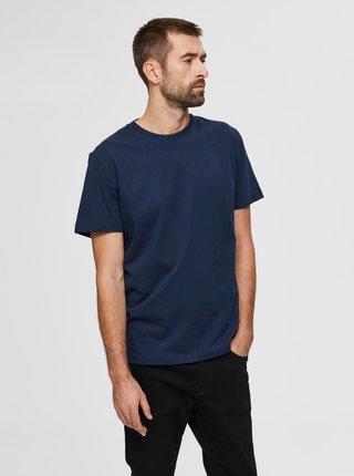 Tmavomodré basic tričko Selected Homme Norman