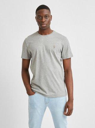 Šedé tričko Selected Homme Jude