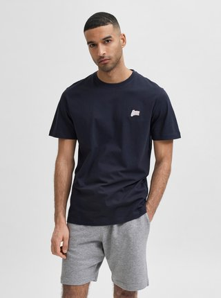 Tmavomodré tričko Selected Homme Jude