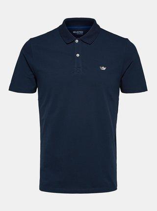 Tmavě modré polo tričko Selected Homme Nathan