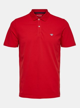 Červené polo tričko Selected Homme Nathan