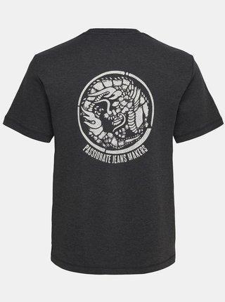 Čierne tričko s potlačou ONLY & SONS Nadeem
