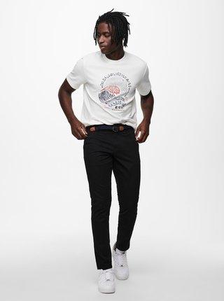 Bílé tričko s potiskem ONLY & SONS Nadeem