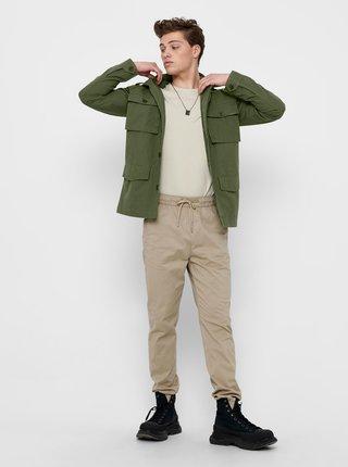 Zelená ľahká bunda s vreckami ONLY & SONS Carter