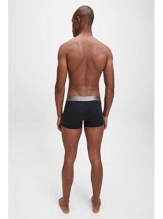 Čierne boxerky Trunk se stříbrnou gumou Calvin Klein