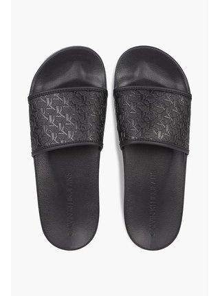 Černé pánské pantofle Calvin Klein Slide Embossed