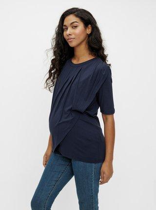 Tmavě modré těhotenské/kojicí tričko Mama.licious Iris
