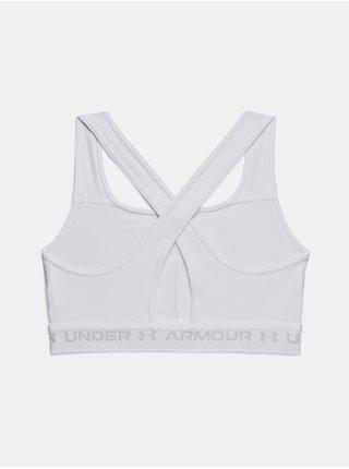 Podprsenka Under Armour UA Crossback Mid Bra - bílá