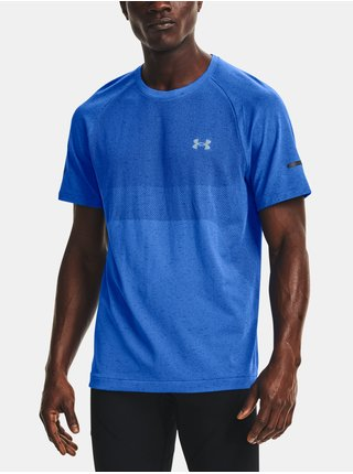 Tričko Under Armour UA Vanish Seamless Run SS - modrá