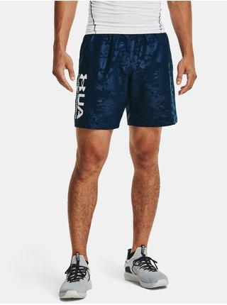 Kraťasy Under Armour UA Woven Emboss Shorts - tmavě modrá