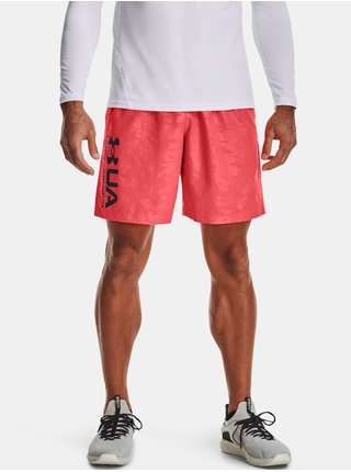 Kraťasy Under Armour UA Woven Emboss Shorts - červená