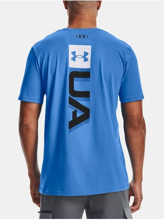 Tričko Under Armour UA BOXED WORDMARK SS - modrá