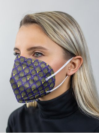 Fialový vzorovaný respirátor FFP2 s nanomembránou Respirátory