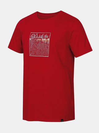Červené pánské tričko s potiskem Hannah