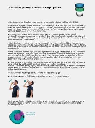 Béžový skleněný cestovní hrnek KeepCup Original small 227 ml
