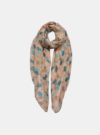 Světle hnědý vzorovaný šátek Clayre & Eef