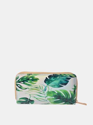 Zeleno-biela dámska vzorovaná peňaženka Clayre & Eef