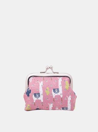 Růžová dámská vzorovaná malá peněženka Clayre & Eef