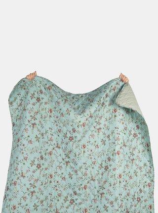 Svetlomodrá kvetovaná deka Clayre & Eef 140 x 220 cm