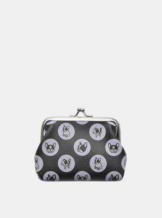 Černá dámská vzorovaná malá peněženka Clayre & Eef