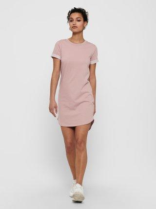 Růžové mikinové šaty Jacqueline de Yong
