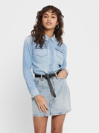 Světle modrá džínová košile ONLY Rock