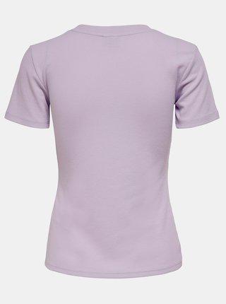 Světle fialové tričko Jacqueline de Yong Kissa