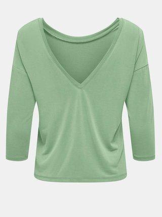 Zelené tričko s výstrihom na chrbte ONLY Free