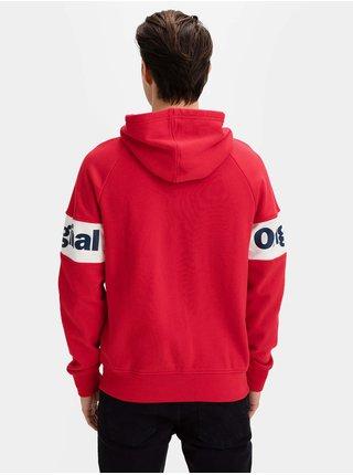 Červená pánská mikina GAP Logo hoodie gap orig fz hd