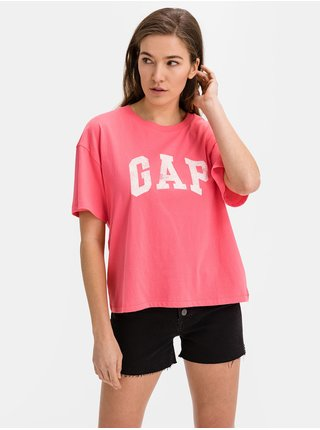 Tričko GAP Logo easy heavyweight t-shirt Ružová