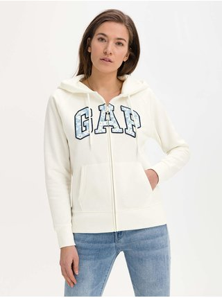 Mikina GAP Logo hoodie Smotanová