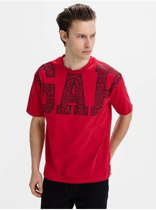 Červené pánské tričko GAP Logo jac cny easy