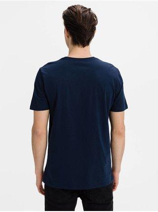 Modré pánské tričko GAP Logo f-prague city