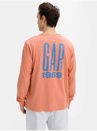 Tričko GAP Logo graphic pocket t-shirt Oranžová