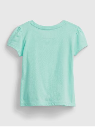 Detské tričko GAP Logo organic cotton t-shirt Modrá