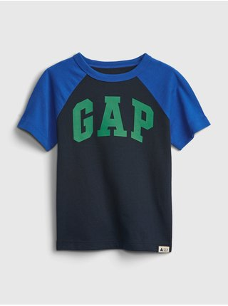 Detské tričko GAP Logo organic mix and match t-shirt Modrá