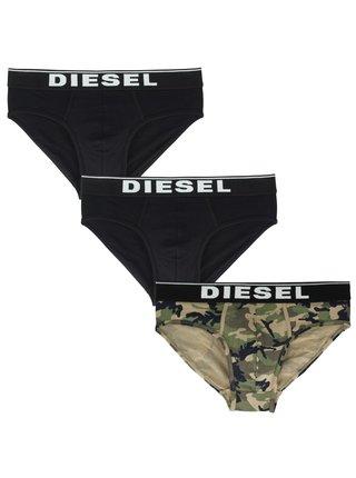 3PACK pánské slipy Diesel vícebarevné