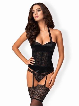 Sexy korzet Ailay corset - Obsessive černá