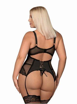 Sexy korzet Amallie corset XXL - Obsessive černá