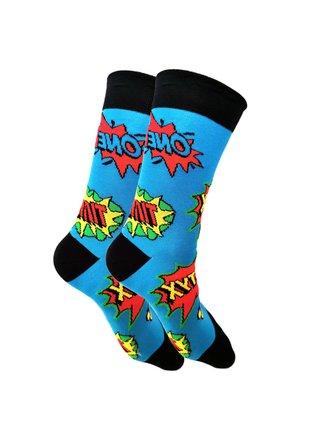 Veselé ponožky Styx vysoké art boom