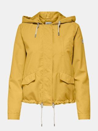 Žlutá lehká bunda s kapucí ONLY Skylar