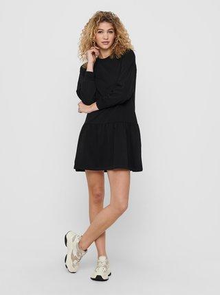 Čierne mikinové šaty Jacqueline de Yong Nashville