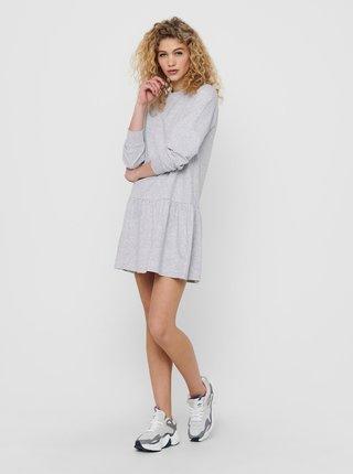 Světle šedé mikinové šaty Jacqueline de Yong Nashville