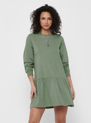 Zelené mikinové šaty Jacqueline de Yong Nashville