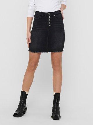 Černá džínová pouzdrová sukně ONLY Blush