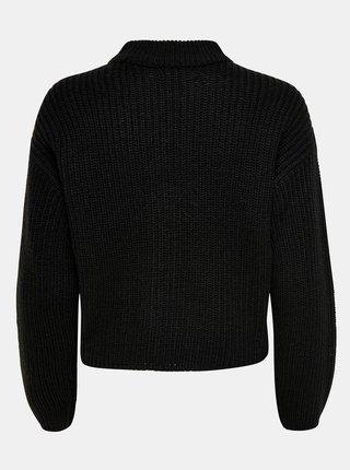 Čierny sveter so stojáčikom Jacqueline de Yong Sister